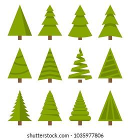 Christmas Trees Set