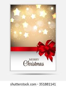 Christmas Website Banner and Card Background Illustration