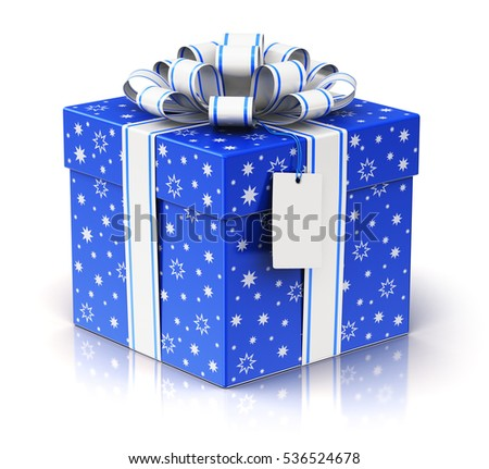 christmas or xmas new year or birthday tradition celebration concept 3d render of blue