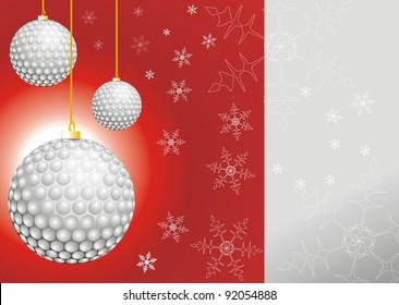 christmass balls like golf balls