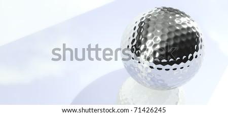 Chrome Golf Ball Background Wallpaper
