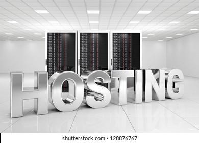 Chrome Hosting letters in data center