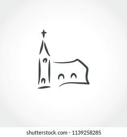 church line illustration icon