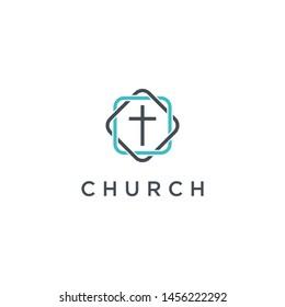 church logo design vector abstrack