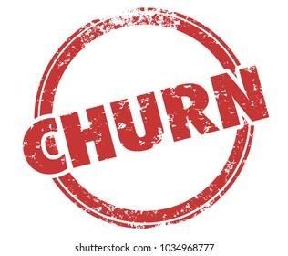 Churn Lost Business Non Renewal Customer Leaving Stamp Illustration