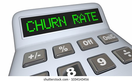 Churn Rate Calculator Lost Customers Business 3d Illustration