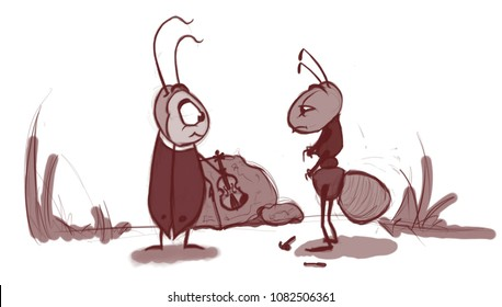 Cicada and ant