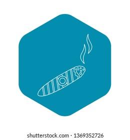 Cigar burned icon. Outline illustration of cigar burned icon for web