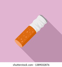Cigarette goby icon. Flat illustration of cigarette goby icon for web design