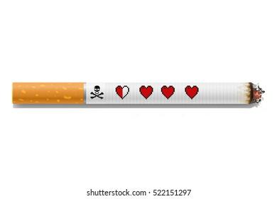 Cigarettes are dangerous concept/Cigarette illustration