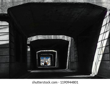 Cincinnati urban exploration tunnel system Illustration pen art  Street photography
