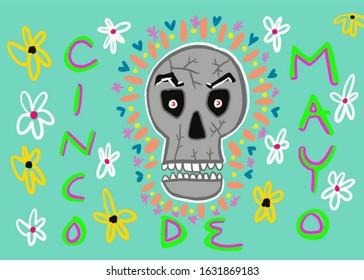 Cinco de Mayo Abstract Illustration