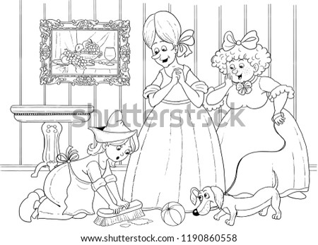Royalty Free Stock Illustration Of Cinderella Fairy Tale Coloring