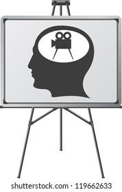 cinema brain of a man. raster variant