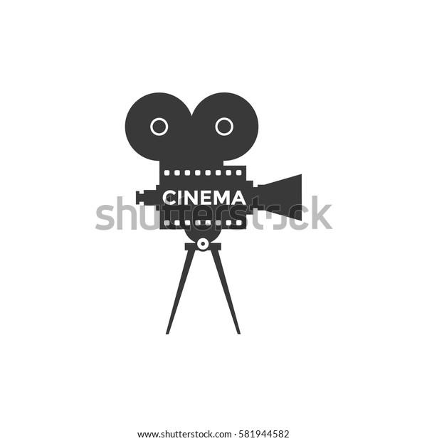Cinema icon or symbol isolated background. Camcorder illustration