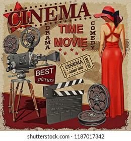 Cinema retro poster.