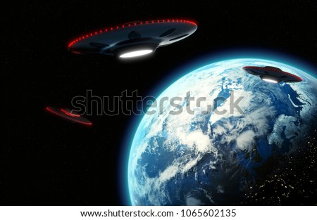 Cinematic UFO flying saucers