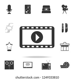 cinematographic tape icon. Set of cinema  element icons. Premium quality graphic design. Signs and symbols collection icon for websites, web design, mobile app
