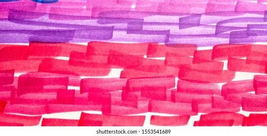 Cinnamon Copper Rainbow Hand Drawn Stroke. Camel Fuchsia Paintbrush Hipster Marker Stripes. Orange Shibori Brush Lines. Rose Bright Juicy Doodle Marker Stripes.