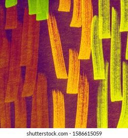 Cinnamon Yellow Energetic Positive Marker Stripes Backdrop. Copper Shibori Pattern Line. Seafoam Bright Juicy Doodle Marker Stripes. Lavender Fuchsia Rainbow Hand Drawn Stroke.