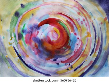 Circle abstract colorful background or Creative colorful background, Abstract art, Meditation