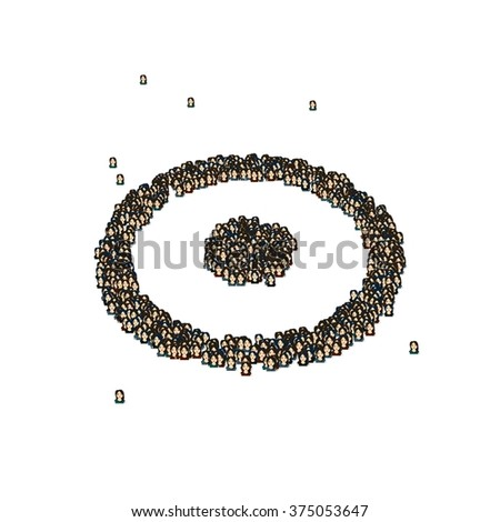 Circle Dot Symbol Glyph Out Tiny Stock Illustration 375053647