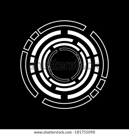 Circle Element Background Stock Illustration 181755098