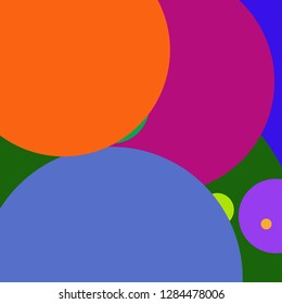 Circle geometric amazing abstract background multicolor pattern.