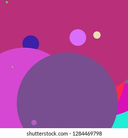 Circle geometric lovely abstract background multicolored pattern.