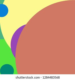 Circle geometric new abstract background multicolor pattern.