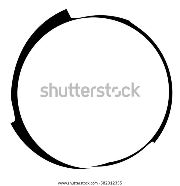 Circle liquid, fluid splash element isolated on white