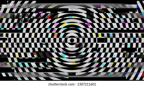 Circle Round Grid Colored Motion Noise Abstract Background