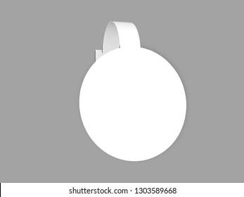 circle self stopper or wobbler 3d rendering