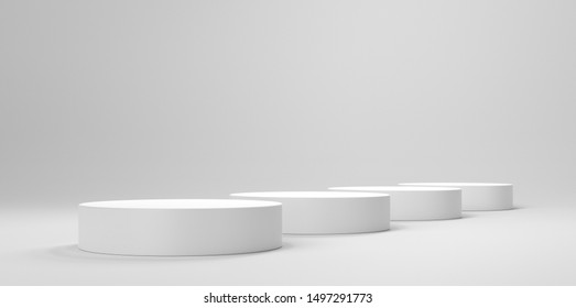 Circle Shape Empty Platorm, Scence Studio Or Pedestal For Display. 3D render