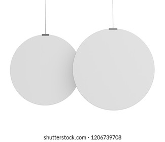 Circle Shape Hanger, Dangler Or Banner. 3D render