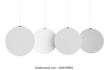 Circle Shape Hanger, Dangler Or Banner. 3D render
