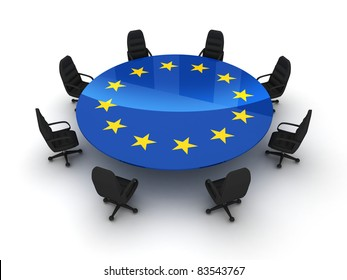 Circle table EU (isolated done in 3d)