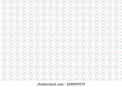Circle texture illustration, abstract circle on white background,