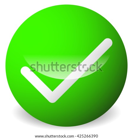Circle Tick Check Mark Symbol Approve Stock Illustration 425266390