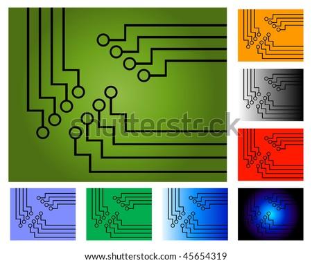 Astonishing Circuit Board Diagram Concept Colour Variations Stock Illustration Wiring 101 Ferenstreekradiomeanderfmnl