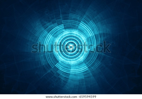 Circular futuristic science fiction background