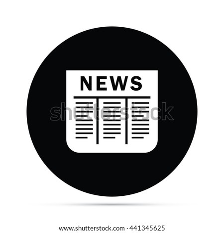 circular newspaper icon raster version stock illustration 441345625