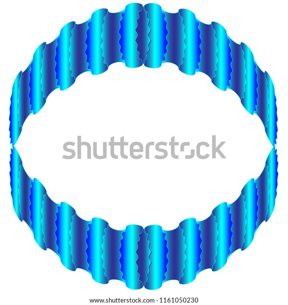 The circular object with wavy patterns reminiscent of its color and shape with the aquamarine ring. The center of the building is white.