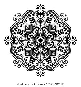 Circular pattern in form of mandala for coloring book, greeting card, phone case print. Anti-stress therapy pattern, coloring for adults. Hand drawn background, abstract round ornament.