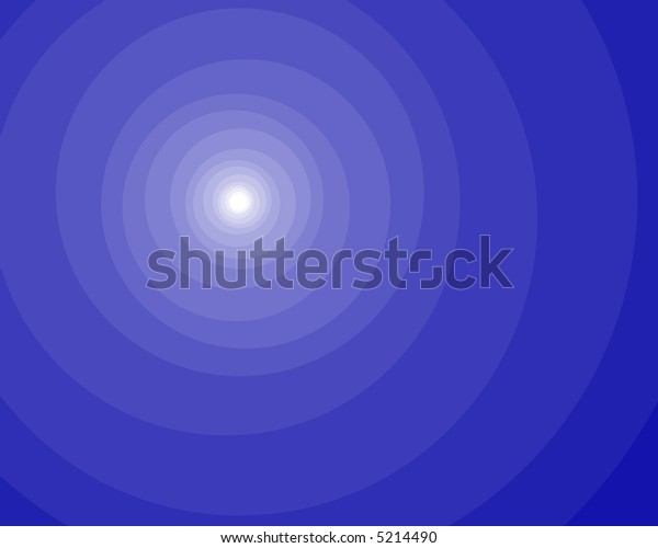 Circular white glow on blue background.