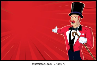 Circus Announcer with background