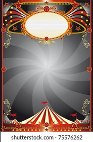 Circus black background. A circus backgrount for your show.