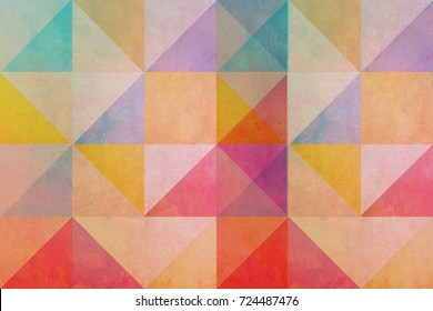 circus motif design - colorful triangles on textured background