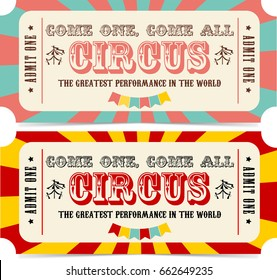 Circus ticket icon