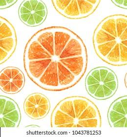 citrus pattern fruit,diet food watercolor illustration modern white background fresh lemon,citrus,orange summer design colorful wallpaper organic summer modern fashion seamless textile texture.